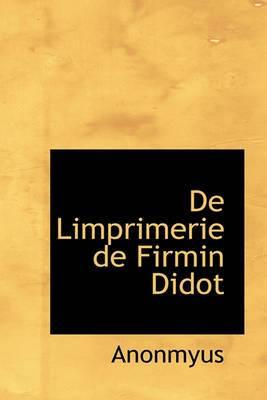 de Limprimerie de Firmin Didot