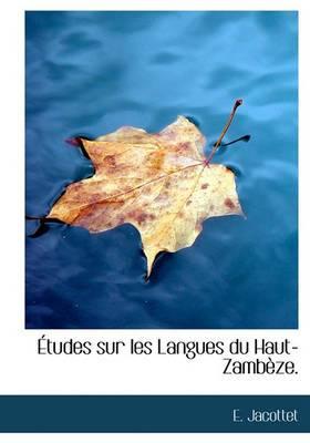 Etudes Sur Les Langues Du Haut-Zamb Ze.