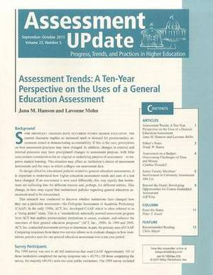 Assessment Update: Progress, Trends, and Practices in Higher Education Number 5, September-October, 2011: Volume 23