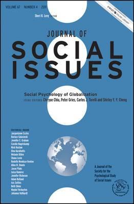 Social Psychology of Globalization: 2011: Volume 67, Number 4