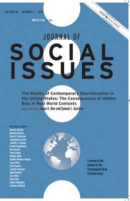 The Reality of Contemporary Discrimination in the United States: The Consequences of Hidden Bias in Real World Contexts: 2012: Volume 68, Number 2