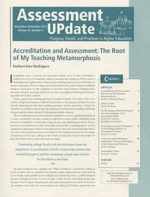 Assessment Update Volume 24, Number 6,  November-december, 2012