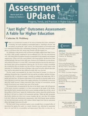 Assessment Update: Progress, Trends, and Practices in Higher Education: March-April, 2013