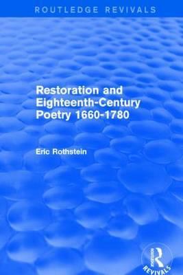 Restoration and Eighteenth-Century Poetry 1660-1780