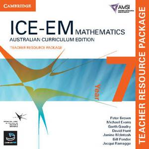 ICE-EM Mathematics Australian Curriculum Edition Year 7 Teacher Resource Package