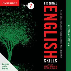 Essential English Skills for the Australian Curriculum Year 7 Electronic Version: A Multi-level Approach