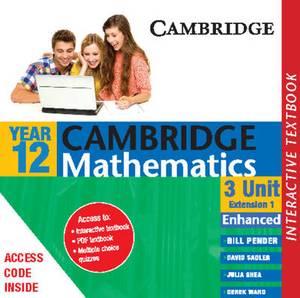 Cambridge 3 Unit Mathematics Year 12 Enhanced Version Interactive Textbook