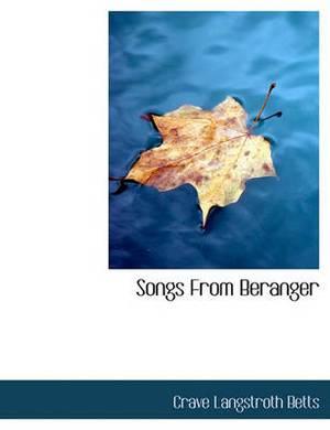 Songs from Beranger