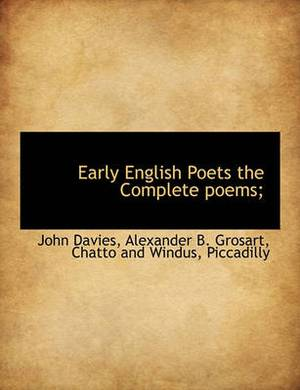 Early English Poets the Complete Poems;