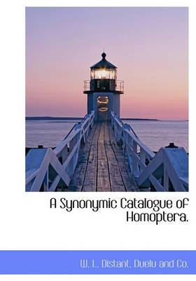 A Synonymic Catalogue of Homoptera.