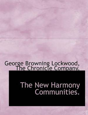 The New Harmony Communities.