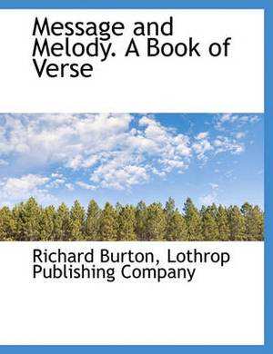 Message and Melody. a Book of Verse