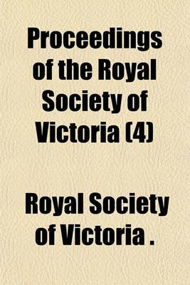 Proceedings of the Royal Society of Victoria (4)