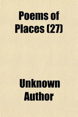 Poems of Places (Volume 27)