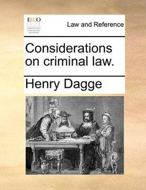 Considerations on Criminal Law.