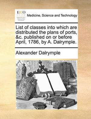 List of Classes Into Which Are Distributed the Plans of Ports, &C. Published on or Before April, 1786, by A. Dalrymple.