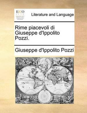 Rime Piacevoli Di Giuseppe d'Ippolito Pozzi.