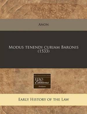 Modus Tenendi Curiam Baronis (1533)