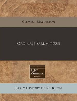 Ordinale Sarum (1503)