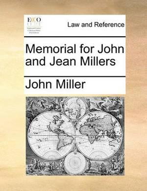 Memorial for John and Jean Millers