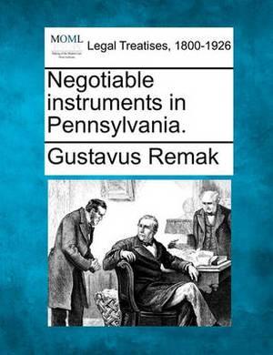 Negotiable Instruments in Pennsylvania.