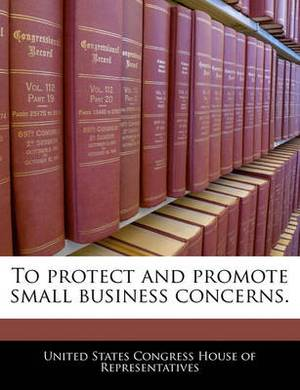 To Protect and Promote Small Business Concerns.
