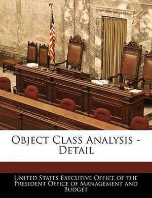 Object Class Analysis - Detail