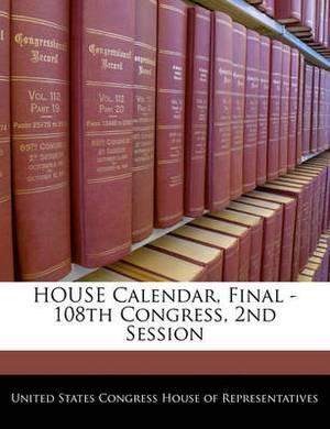 House Calendar, Final - 108th Congress, 2nd Session