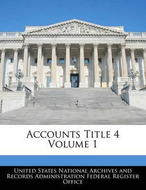 Accounts Title 4 Volume 1