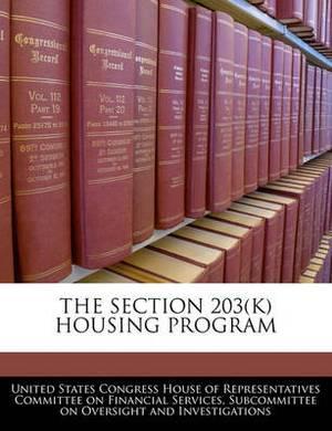 The Section 203(k) Housing Program