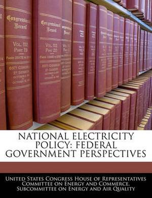 National Electricity Policy: Federal Government Perspectives