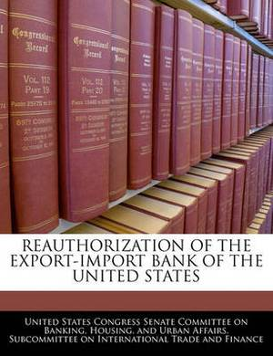 Reauthorization of the Export-Import Bank of the United States