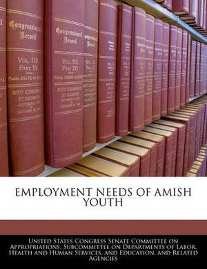 Employment Needs of Amish Youth