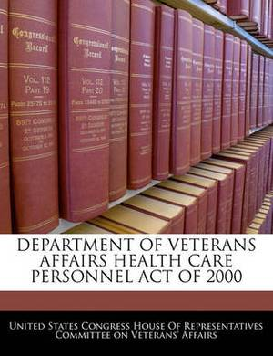 Department of Veterans Affairs Health Care Personnel Act of 2000