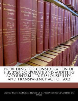 Providing for Consideration of H.R. 3763, Corporate and Auditing Accountability, Responsibility, and Transparency Act of 2002