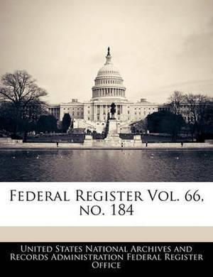 Federal Register Vol. 66, No. 184