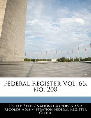 Federal Register Vol. 66, No. 208