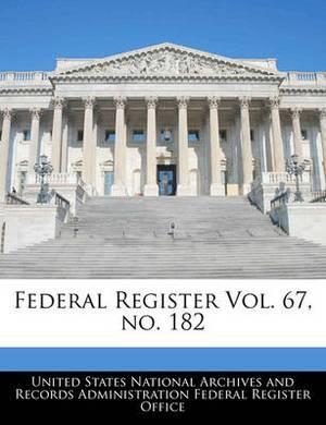 Federal Register Vol. 67, No. 182