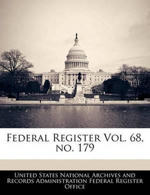 Federal Register Vol. 68, No. 179