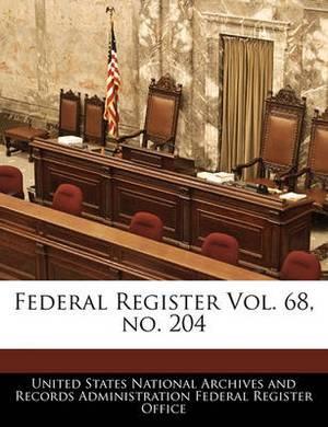 Federal Register Vol. 68, No. 204