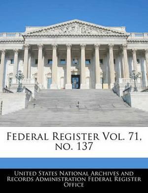 Federal Register Vol. 71, No. 137