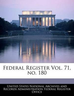 Federal Register Vol. 71, No. 180