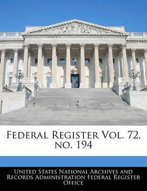 Federal Register Vol. 72, No. 194