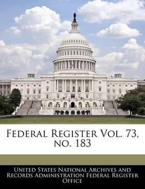 Federal Register Vol. 73, No. 183
