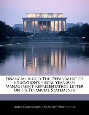 Financial Audit: The Department of Education's Fiscal Year 2004 Management Representation Letter on Its Financial Statements
