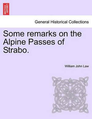 Some Remarks on the Alpine Passes of Strabo.