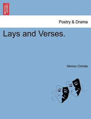 Lays and Verses.