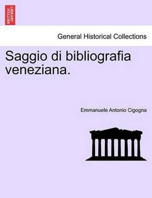 Saggio Di Bibliografia Veneziana.