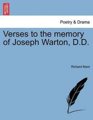 Verses to the Memory of Joseph Warton, D.D.