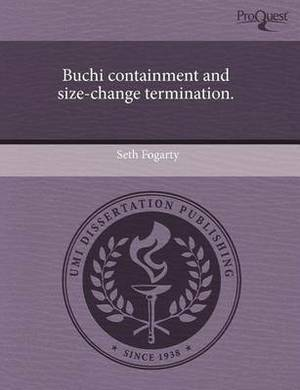 Buchi Containment and Size-Change Termination
